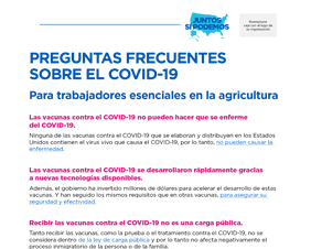 COVID-19 Vaccines: Answers to Commonly Asked Questions — Spanish