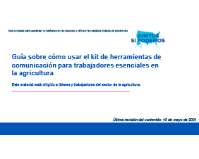 User Guide for Essential Workers in Agriculture Toolkit  — Spanish