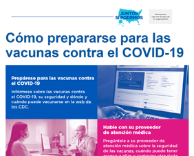How to Get Ready for COVID-19 Vaccines for Community Health Workers — Spanish