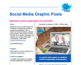 Social Media Graphic Posts for Community Health Workers — Spanish