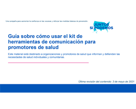 User Guide for Community Health Workers Toolkit  – Spanish