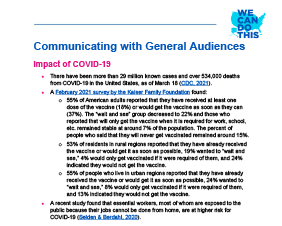 Communicating With a General Audience