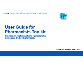 User Guide for Pharmacists Toolkit