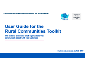 User Guide for the Rural Community Toolkit