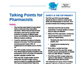 Talking Points for Pharmacists